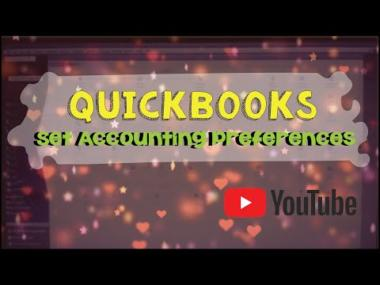 Set Quickbooks accounting preferences